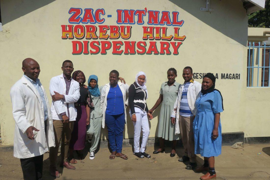 Horebu Hill Dispensary healthcare volunteering