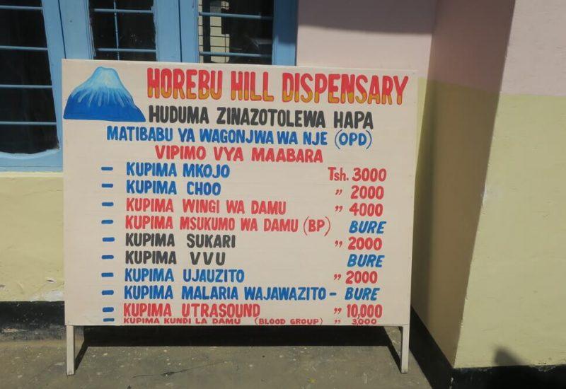 Horebu Hill Dispensary healthcare services